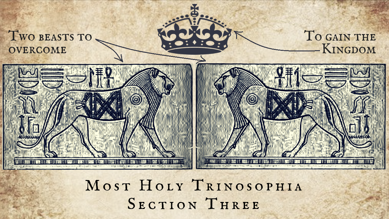 Two Beasts to Overcome to Gain the Kingdom – MOST HOLY TRINOSOPHIA – Section Three
