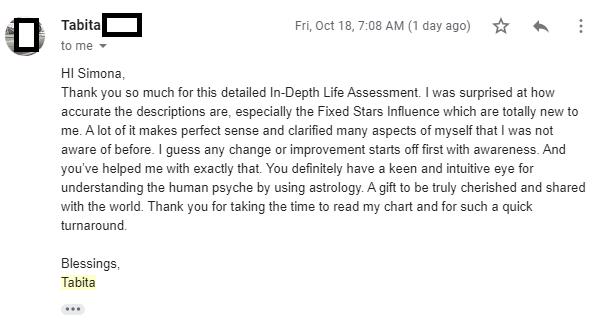Tabita feedback