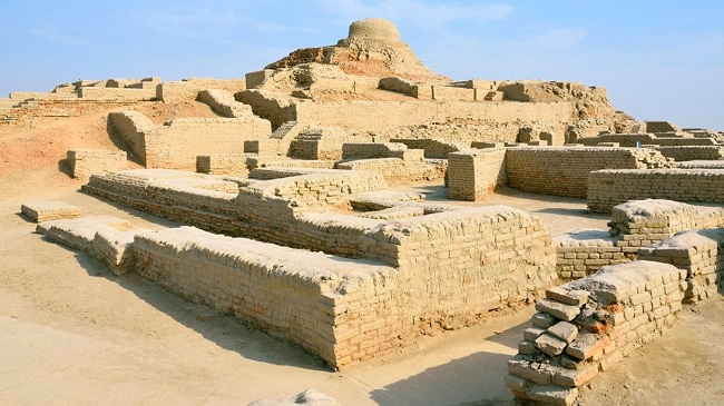 Indus valley - the land used to be very fertile here