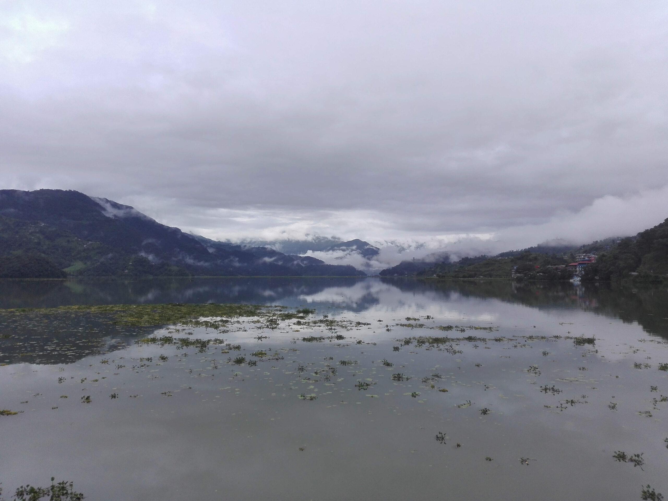 Lake and Himalayas