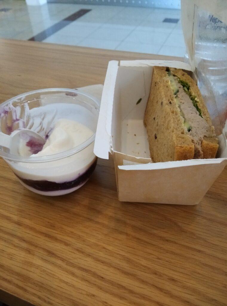 Food at Dubai airport.