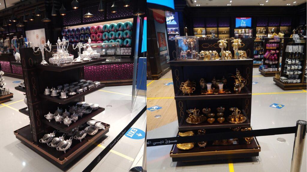 Beautiful shops in Dubai airport.